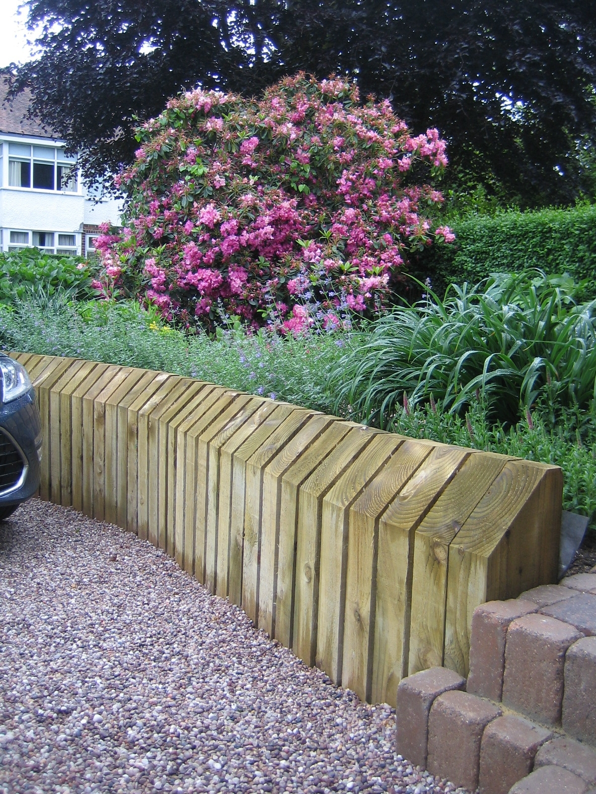 Image of: Painted Retaining Wall Backyard Hopes And Dreams Pinterest Throughout Landscaping Logs Landscaping Logs Beautiful In The Garden