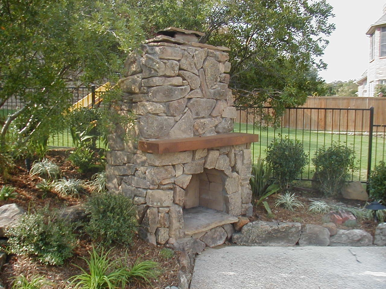 Image of: Partying On Outdoor Fireplace Flue Cleaning Guide