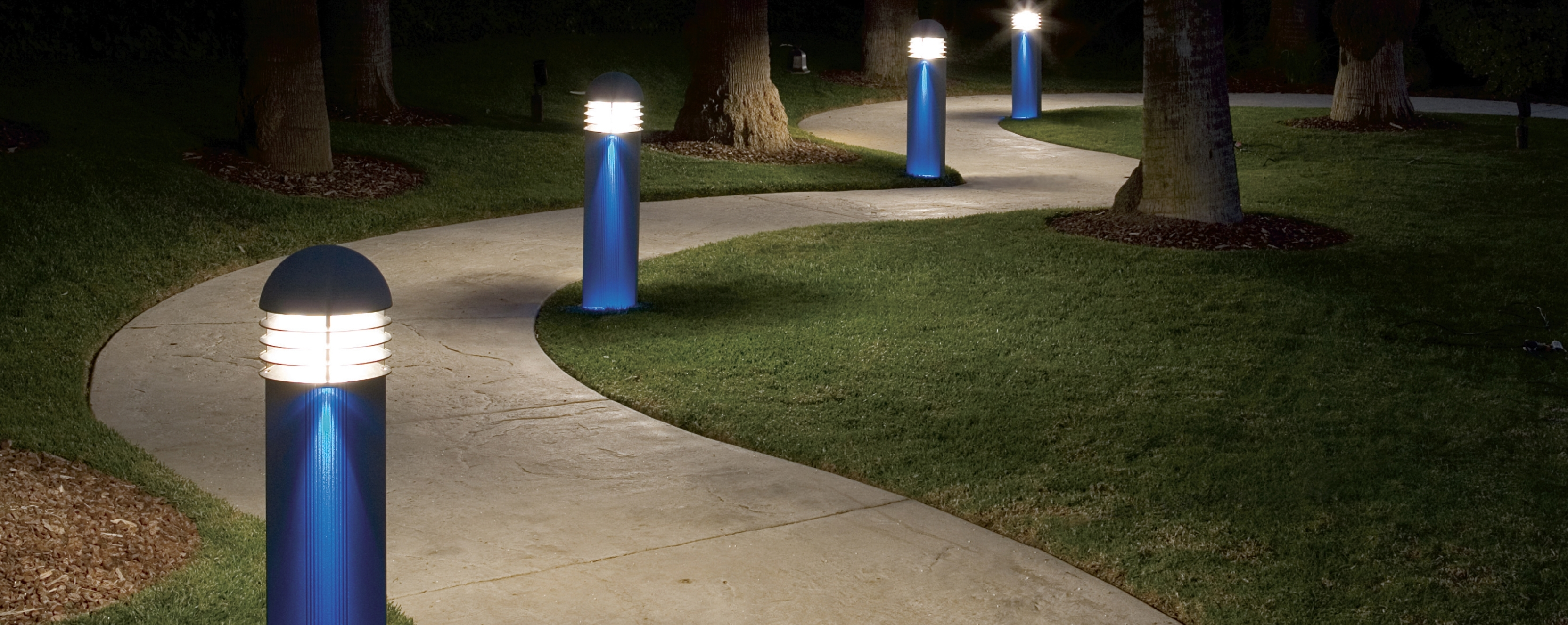 Image of: Pathway Regarding Outdoor Bollard Lighting Style