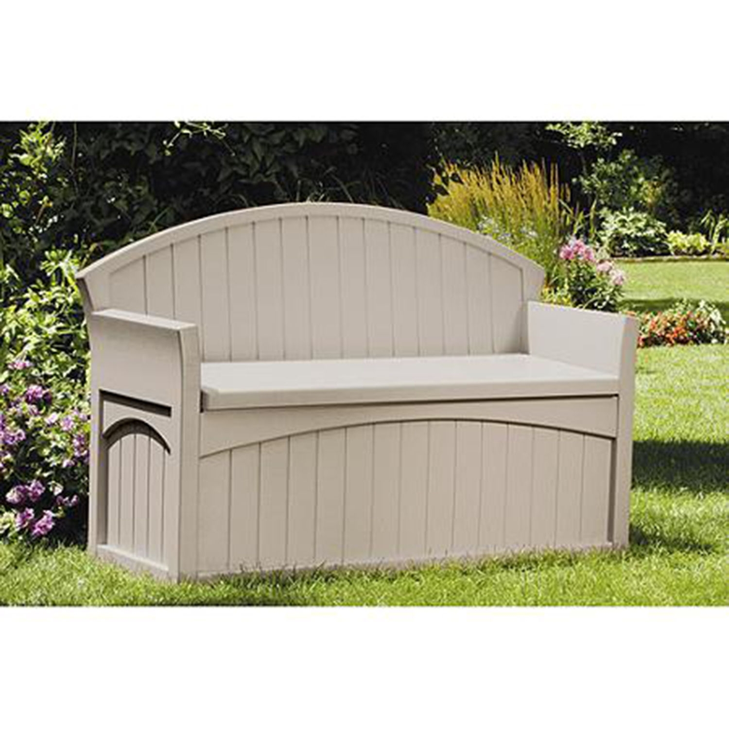 Image of: Patio Cushions Storage 50 Gallon Bench Box Deck Seat Pool Outdoor Pertaining To Cushion Boxes Outdoor Furniture How To Buy Cushion Boxes Outdoor Furniture