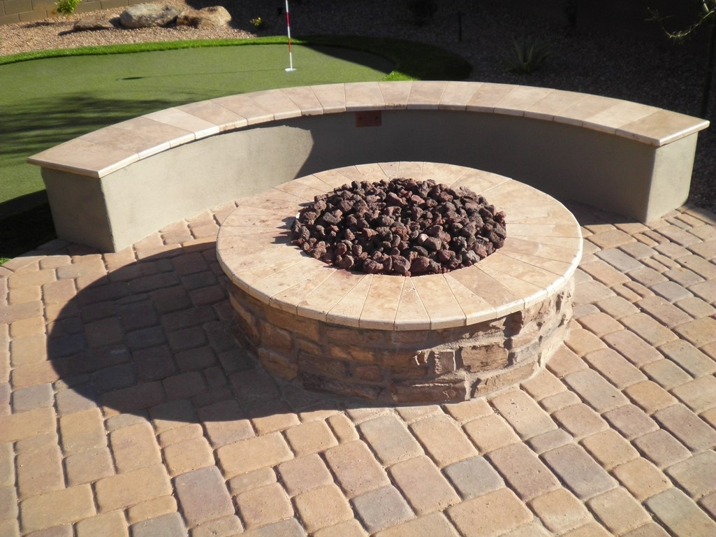 Image of: Patio Fire Pits In Arizona Landscape Design With Regard To Landscape Fire Pits Fireplaces Landscape Fire Pits