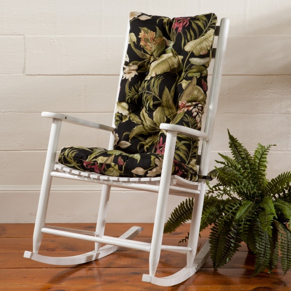 Image of: Patio Furniture Chair Cushions Wicker Chair Cushion Floral Pattern Regarding High Back Chair Cushions Outdoor Furniture How To Clean High Back Chair Cushions Outdoor Furniture