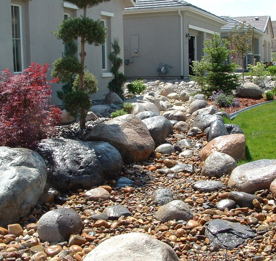 Image of: Perfect River Rock Landscaping Landscape And Plants 2107 To Within Decorative Rocks For Landscaping Decorative Rocks For Landscaping Ideas