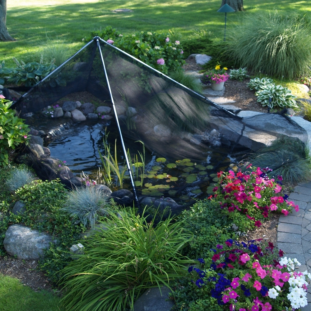 Image of: Pond Protection Netting Garden Pond Netting With Regard To Landscape Netting Beautiful And Useful Pergola Landscape Netting