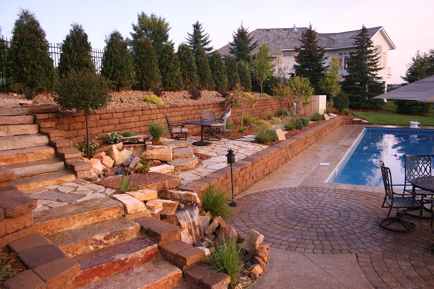 Image of: Pool Landscapes Minneapolis With Curbside Landscape Ideas