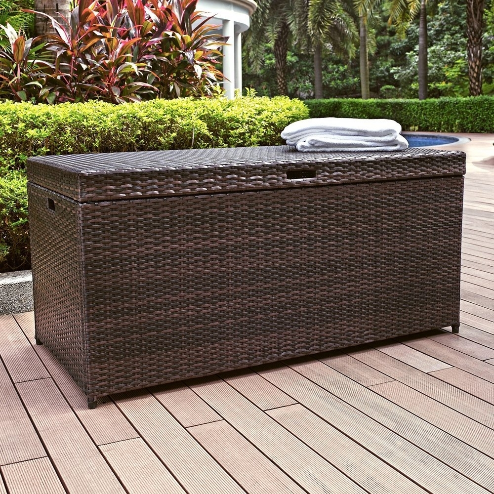 Image of: Rattan Garden Furniture The Garden And Patio Home Guide For Cushion Boxes Outdoor Furniture How To Buy Cushion Boxes Outdoor Furniture