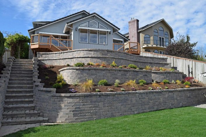 Retaining Wall Ajb Landscaping Fence Inside Retaining Wall Landscaping Ideas For Retaining Wall Landscaping