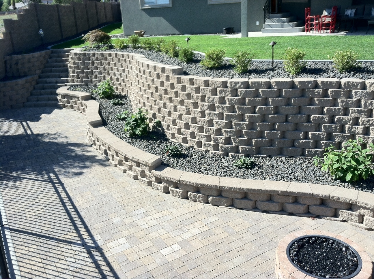 Image of: Musser Landscaping Intended For Landscape Retaining Wall
