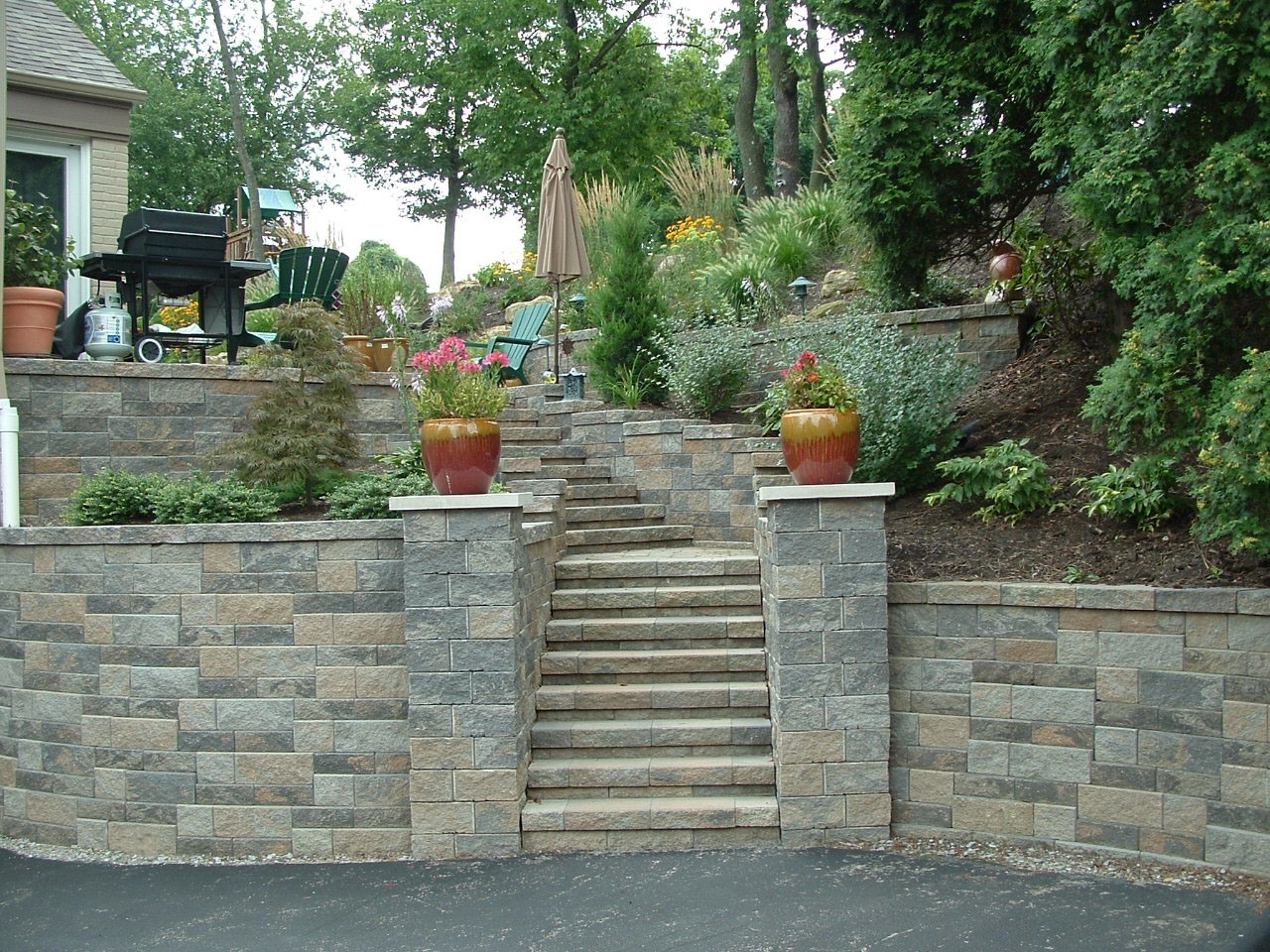 Image of: Retaining Walls Pittsburgh Landscaping Contractor Pittsburgh Pertaining To Retaining Wall Landscaping Ideas For Retaining Wall Landscaping