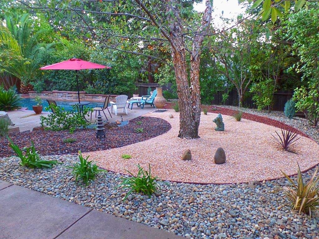 Image of: Simple Drought Tolerant Backyard Landscape Design Xeriscape With Regard To Drought Tolerant Landscape Ideas Popular Drought Tolerant Landscape Ideas