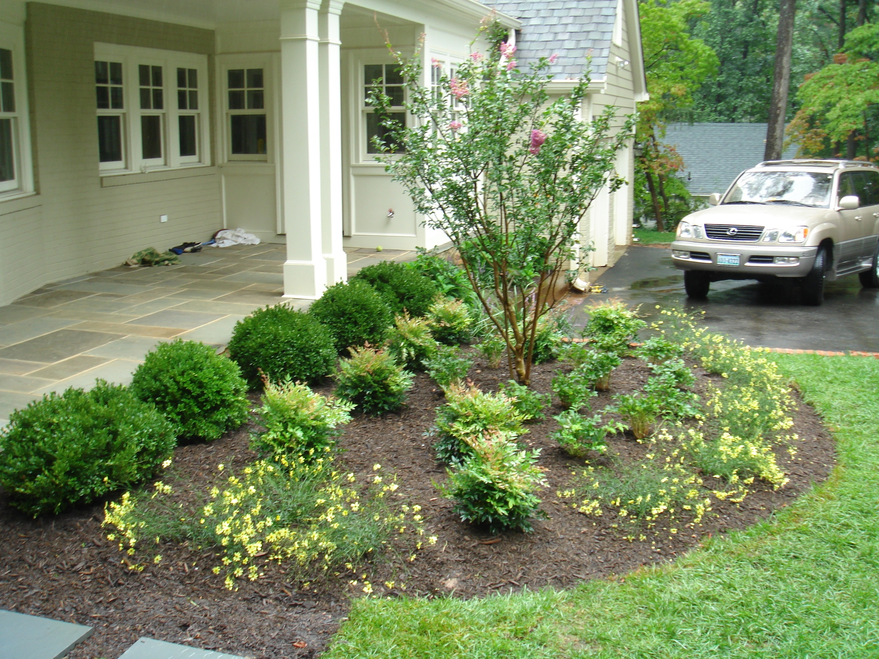 Image of: Simple Front Yard Landscaping Ideas With Trees On A Budget Love In Easy Landscaping Ideas Easy Landscaping Ideas Patio