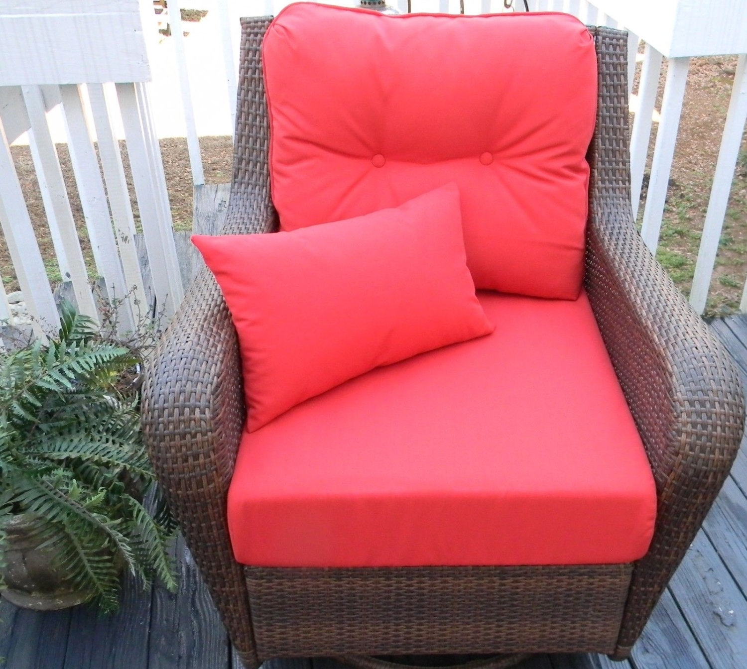Image of: Skillful Ideas Deep Seating Replacement Cushions For Outdoor Throughout Red Outdoor Seat Cushions Red Outdoor Seat Cushions Set For Patio