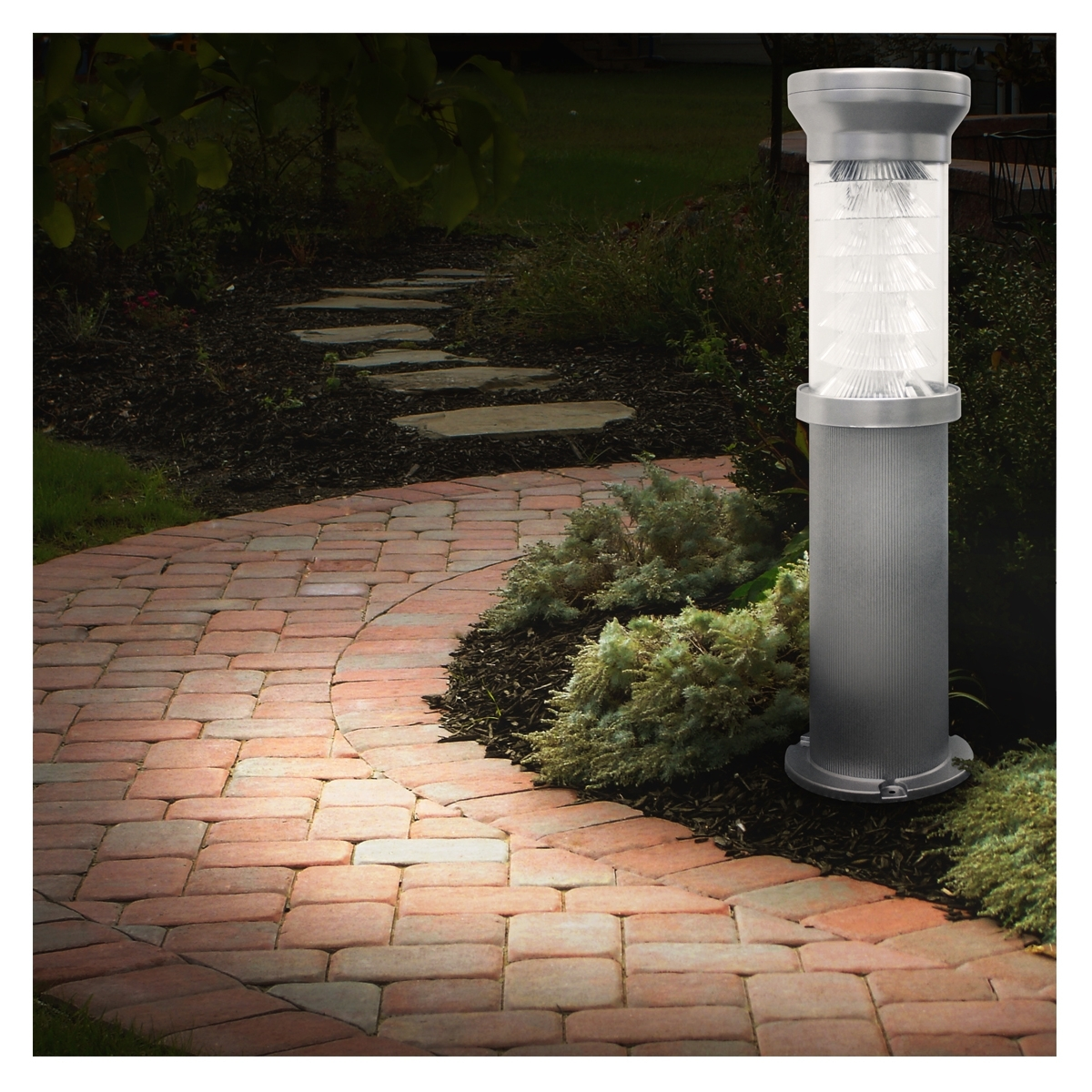 Image of: Solar Outdoor Bollard Lighting Style