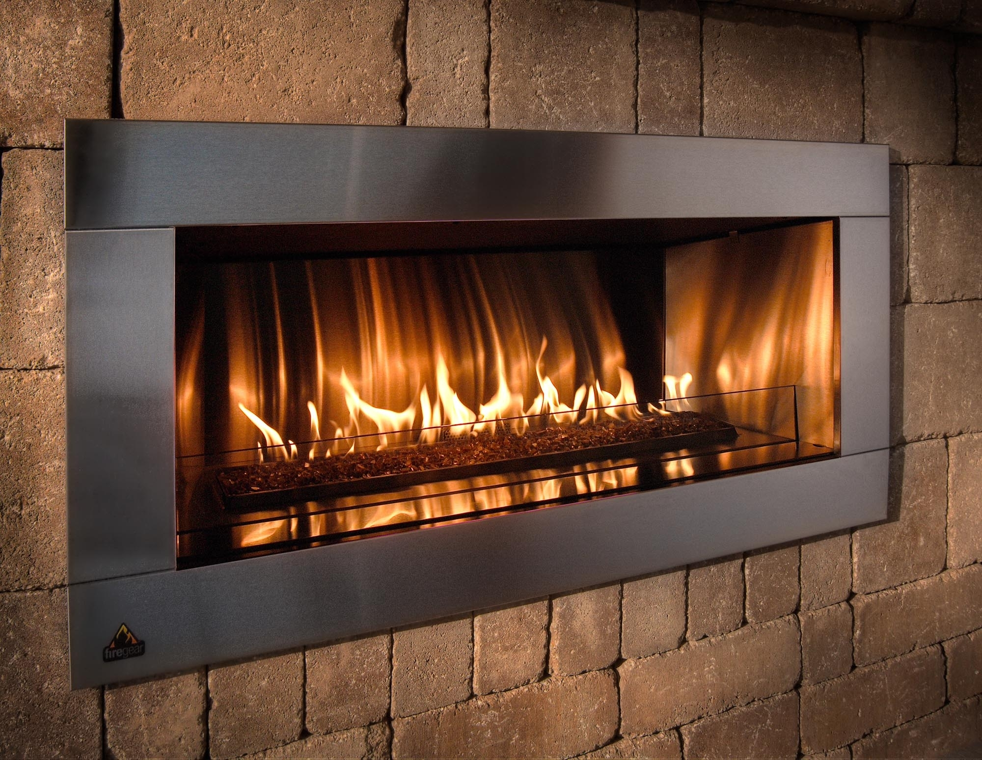 Image of: Solar Winds Energy Regency Throughout Modern Fireplace Outdoor Modern Fireplace Outdoor Installation