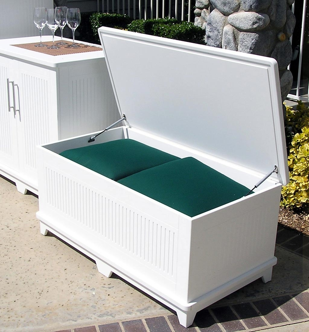 Image of: Soldura Sustainable Outdoor Furniture Cabanas Chaise Lounges Throughout Waterproof Outdoor Cushion Storage Box Waterproof Outdoor Cushion Storage Box Idea