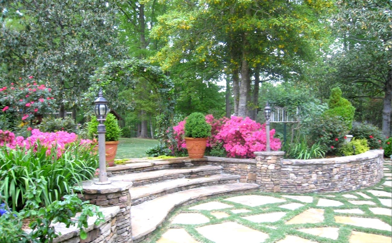 Image of: Solterra Landscape Atlanta Home Improvement Pertaining To Hardscape Landscaping Hardscape Landscaping A Hill