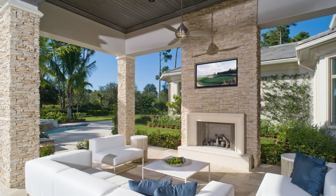 Image of: Stacked Stone Brick America In Eldorado Stone Outdoor Kitchen Eldorado Stone Outdoor Kitchen