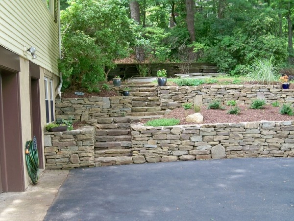 Image of: Stone Retaining Wall Design Stone Retaining Walls Landscape Design For Retaining Wall Landscaping Ideas For Retaining Wall Landscaping