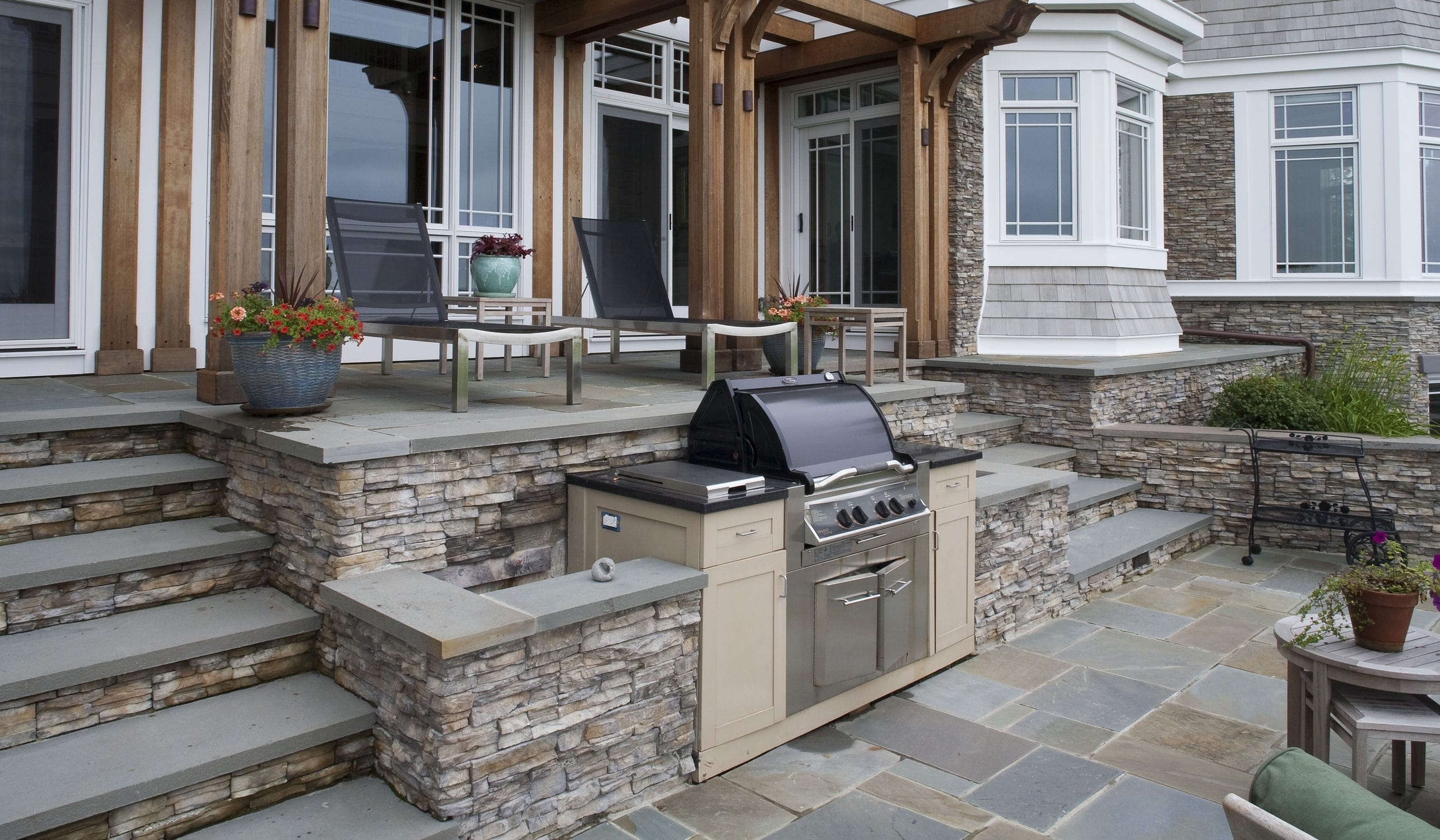 Image of: Stone Wall Cladding Exterior Stacked Stone Nantucket With Regard To Eldorado Stone Outdoor Kitchen Eldorado Stone Outdoor Kitchen