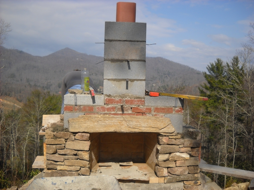 Image of: Living Stone Masonry WithOutdoor Fireplace Flue Cleaning Guide