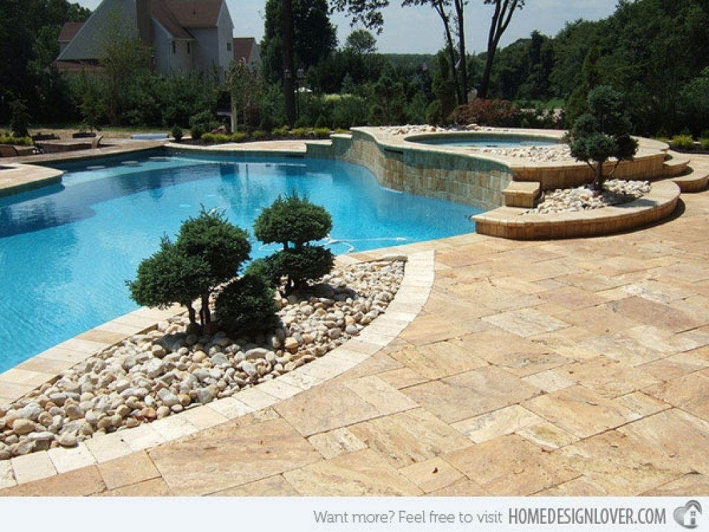 Swimming Pool Landscape Design Ideas Swimming Pool Landscaping Throughout Inground Pool Landscaping Inground Pool Landscaping Ideas