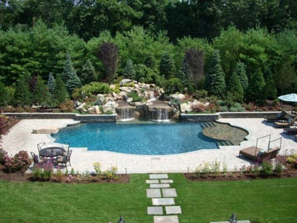 Image of: Swimming Pool Landscape Designs Swimming Pool Landscaping Ideas With Inground Pool Landscaping Inground Pool Landscaping Ideas