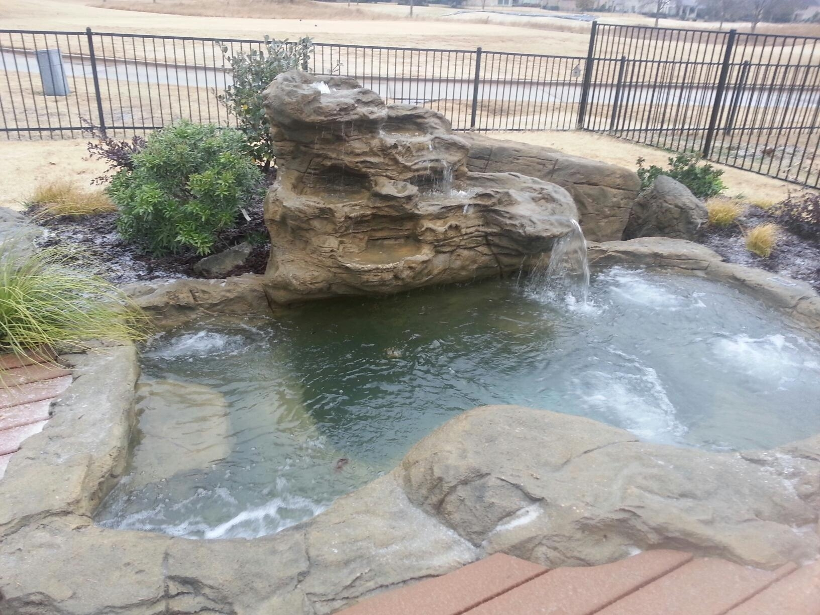 Image of: Swimming Pool Rock Waterfalls Kits Fountains And Boulders In Fake Rocks For Landscaping Affordable Fake Rocks For Landscaping