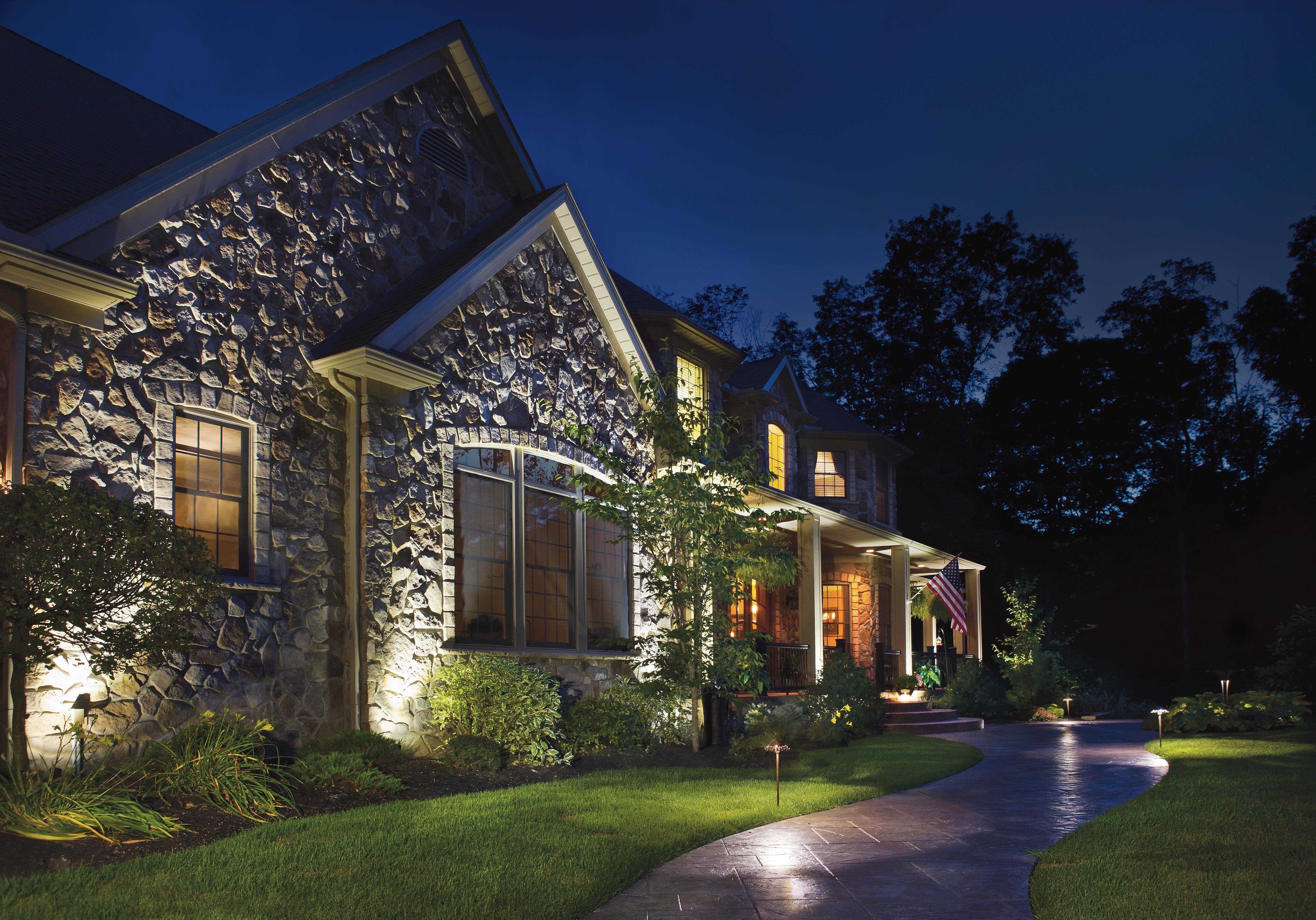 Image of: Ten Landscape Lighting Tips For Curb Appeal That Wows Regarding Outdoor Lighting Designs Outdoor Lighting Designs In Facades