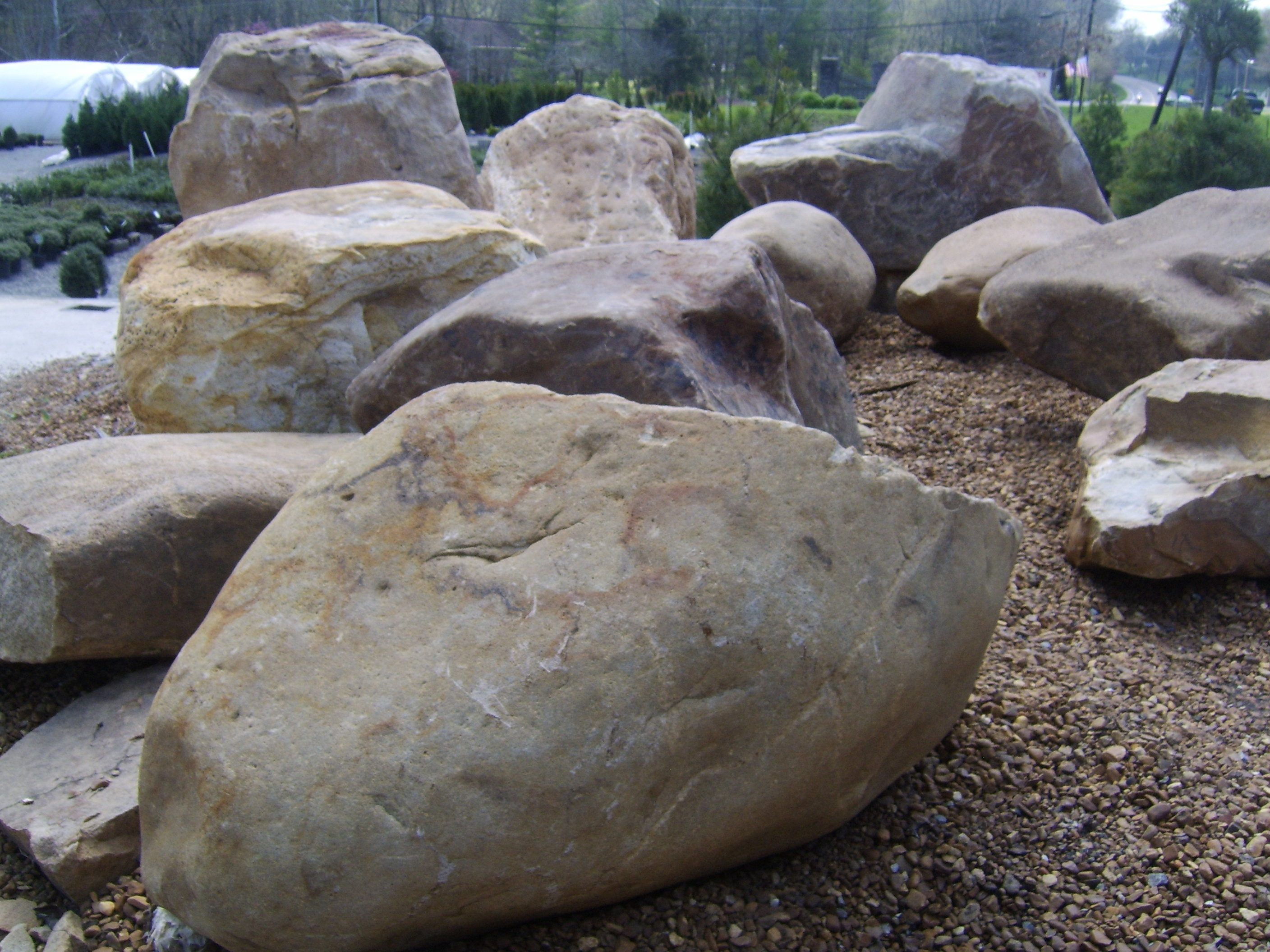 Image of: Home Trend Of Landscape Boulders For Landscaping