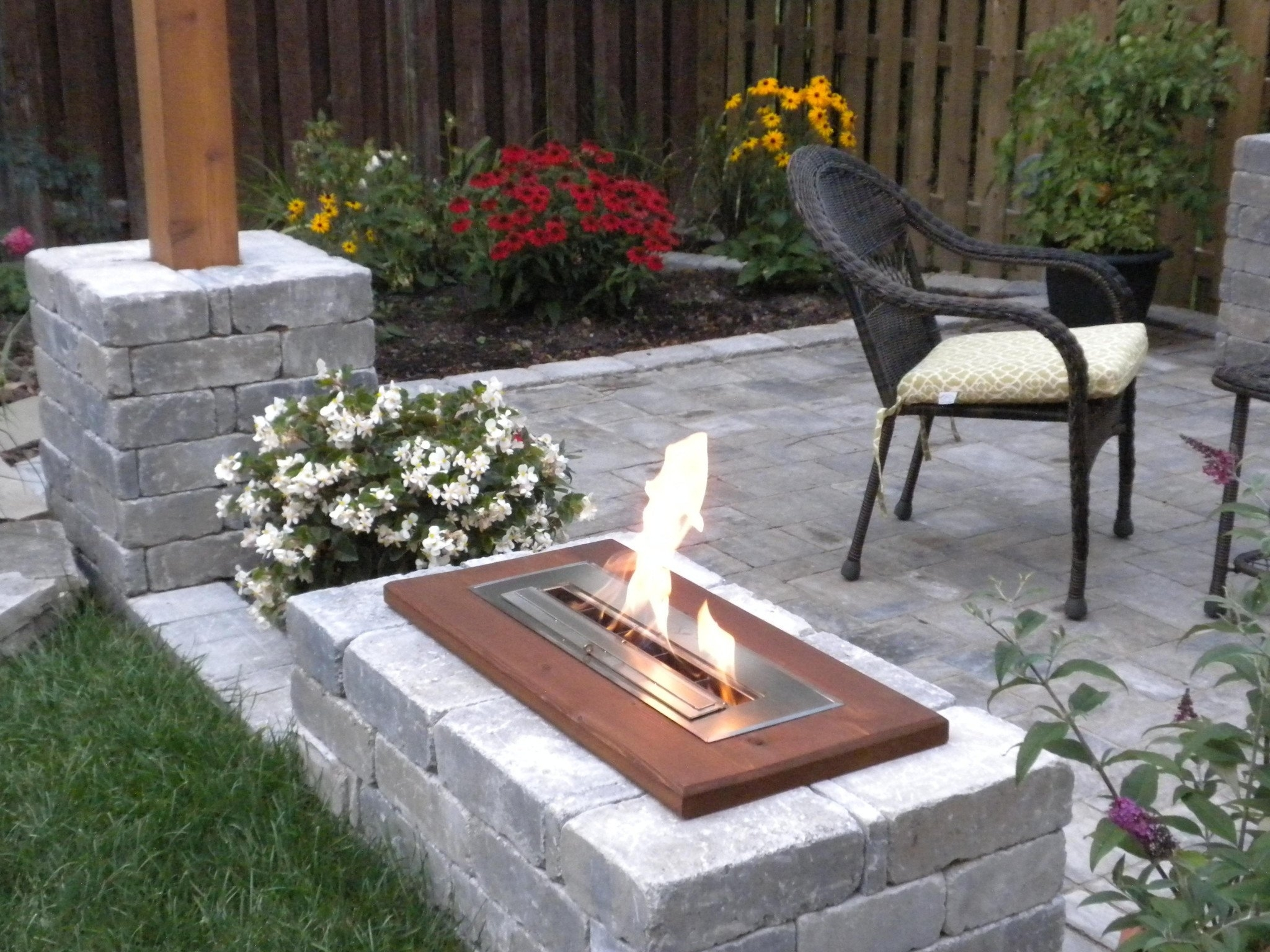 Image of: The Bio Flame 24 Ul Listed Ethanol Fireplace Burner Indoor Throughout Outdoor Fireplace Burner Outdoor Fireplace Burner Clan