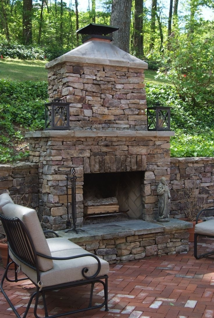 Image of: Top 25 Best Outdoor Fireplace Brick Ideas On Pinterest Diy Intended For Masonry Outdoor Fireplace The Right Options For Masonry Outdoor Fireplace