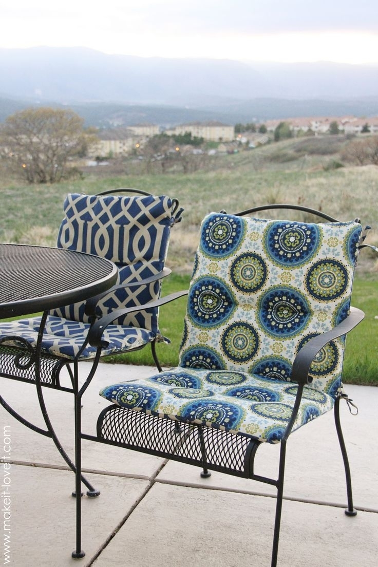 Image of: Top 25 Best Recover Patio Cushions Ideas On Pinterest Diy With High Back Chair Cushions Outdoor Furniture How To Clean High Back Chair Cushions Outdoor Furniture