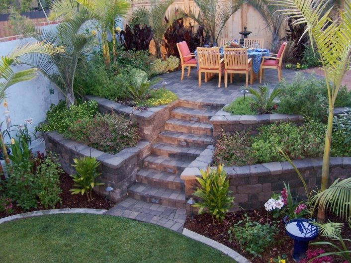 Triyae Retaining Wall Backyard Slope Various Design Throughout Landscaping Ideas For Slopes Attractive Landscaping Ideas For Slopes