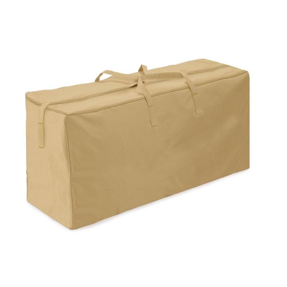 Image of: Two Dogs Designs Khaki Patio Cushion Storage Bag 2d Pf48185 The Within Outdoor Cushion Storage Bags To Save At Outdoor Cushion Storage Bags