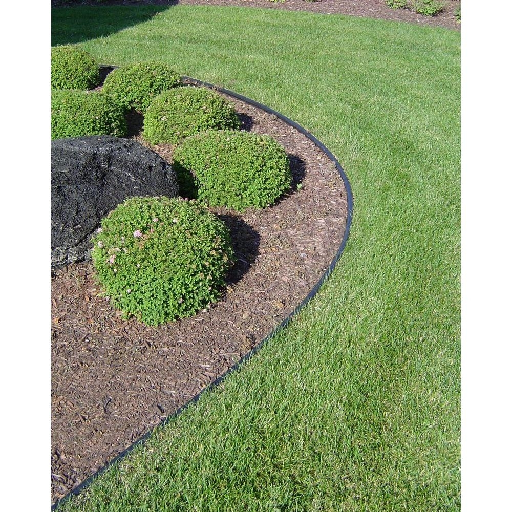 Image of: Valley View Industries Royal Diamond 60 Ft Plastic Lawn Edging Rd With Landscape Edging Borders Design Landscape Edging Borders