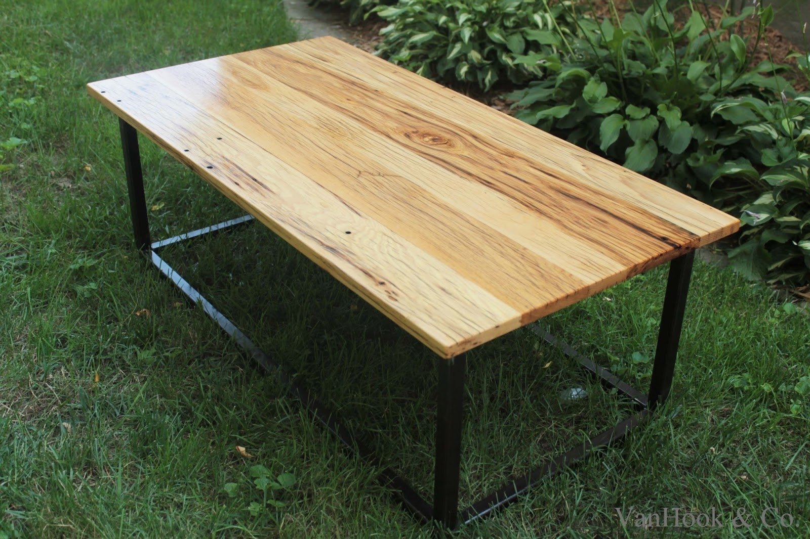 Image of: Vanhook Co Hand Built White Oak And Steel Frame Coffee Table With Regard To White Oak Outdoor Furniture Good Protector For White Oak Outdoor Furniture