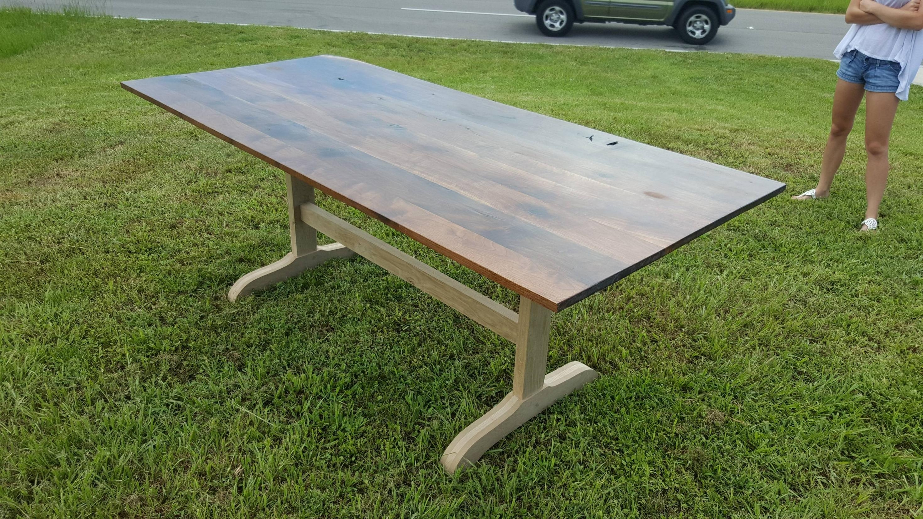 Image of: Walnut And White Oak Table Album On Imgur With Regard To White Oak Outdoor Furniture Good Protector For White Oak Outdoor Furniture