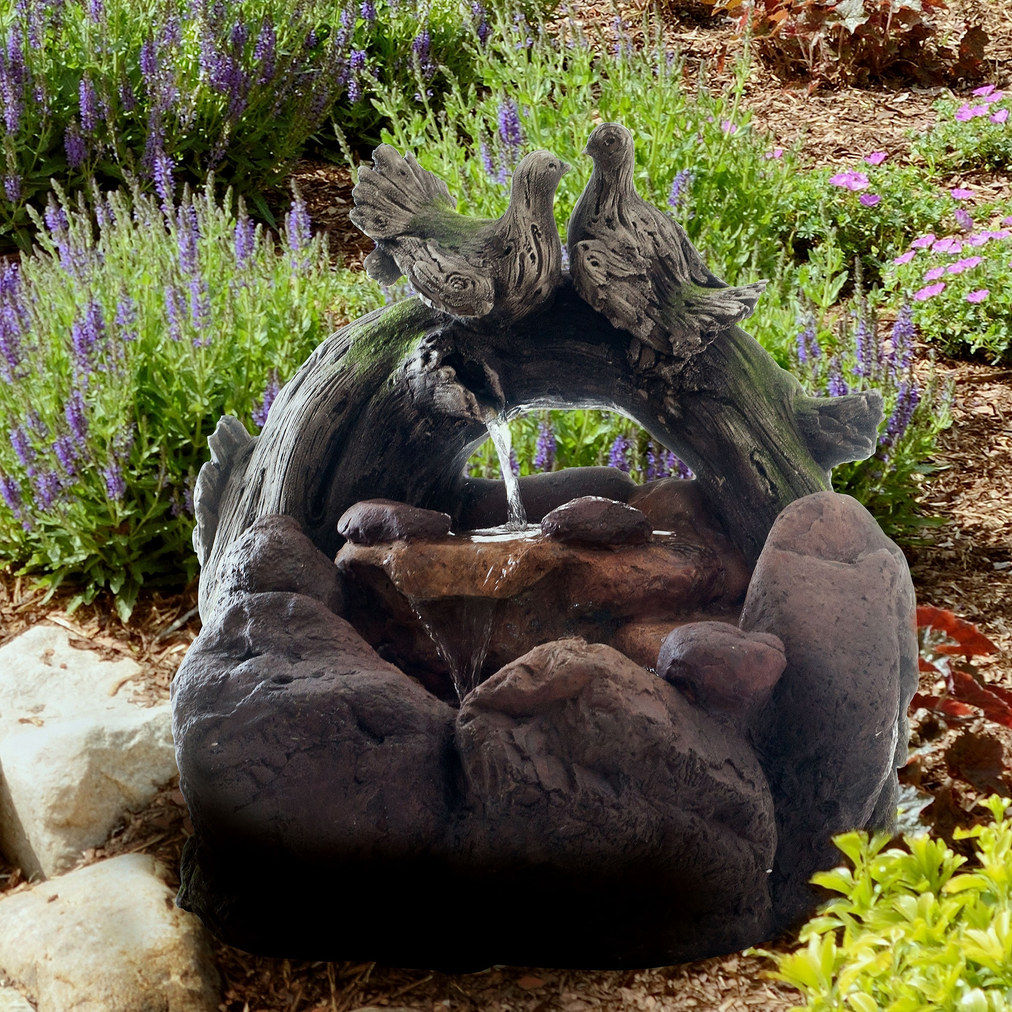 Image of: Water Pump And Rock Fountain Walmart In Fake Rocks For Landscaping Affordable Fake Rocks For Landscaping