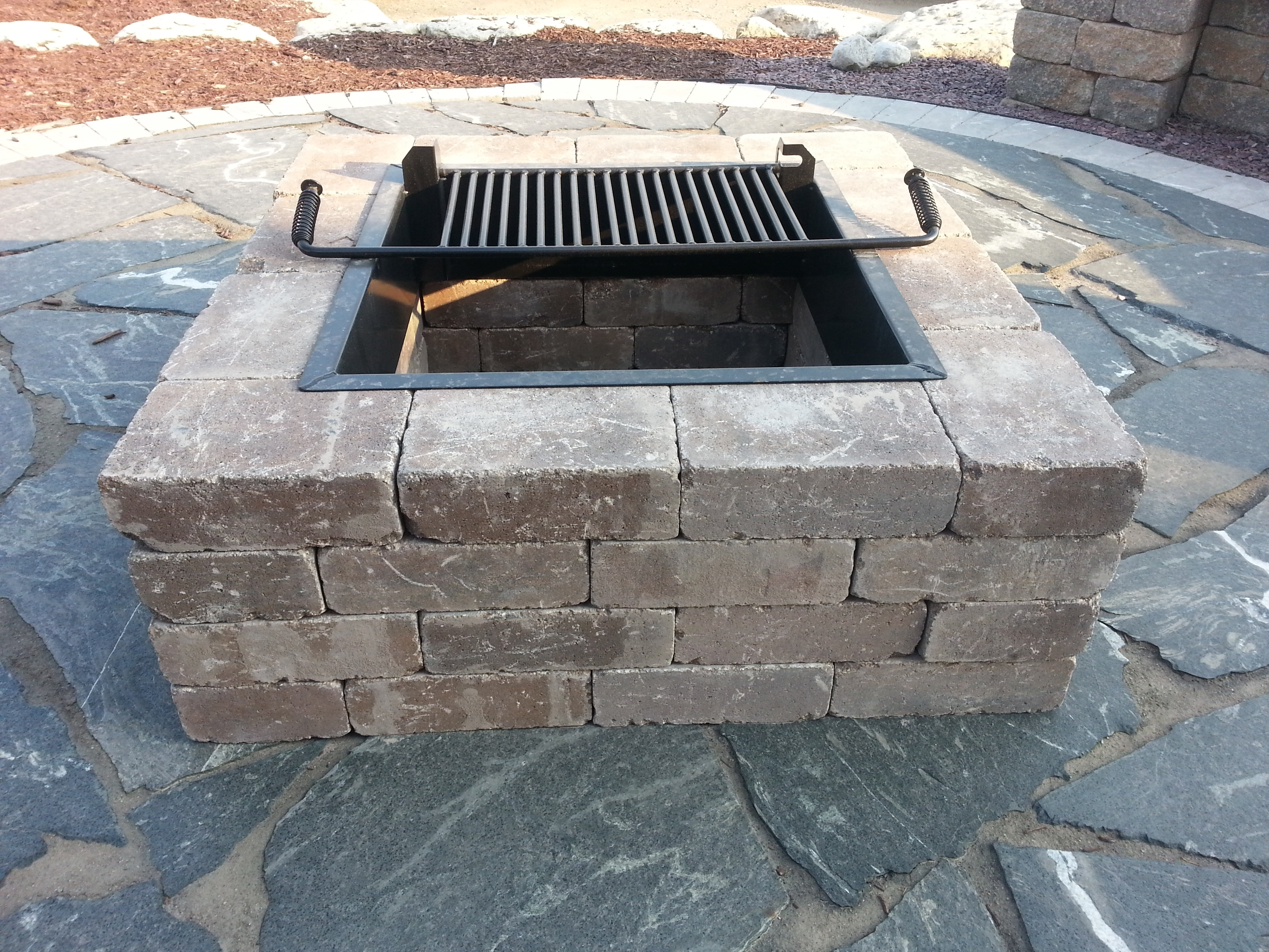 Image of: Weston Fire Pit Kit Madison Block Stone Intended For Landscape Fire Pits Fireplaces Landscape Fire Pits