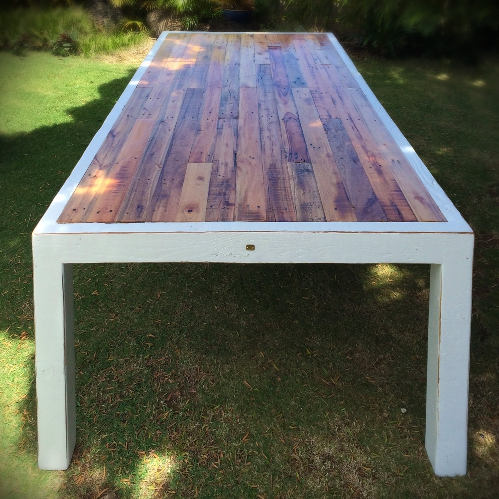 Image of: White Harbor Banquet Table Weathered Oak Shipwrecked Furniture Regarding White Oak Outdoor Furniture Good Protector For White Oak Outdoor Furniture