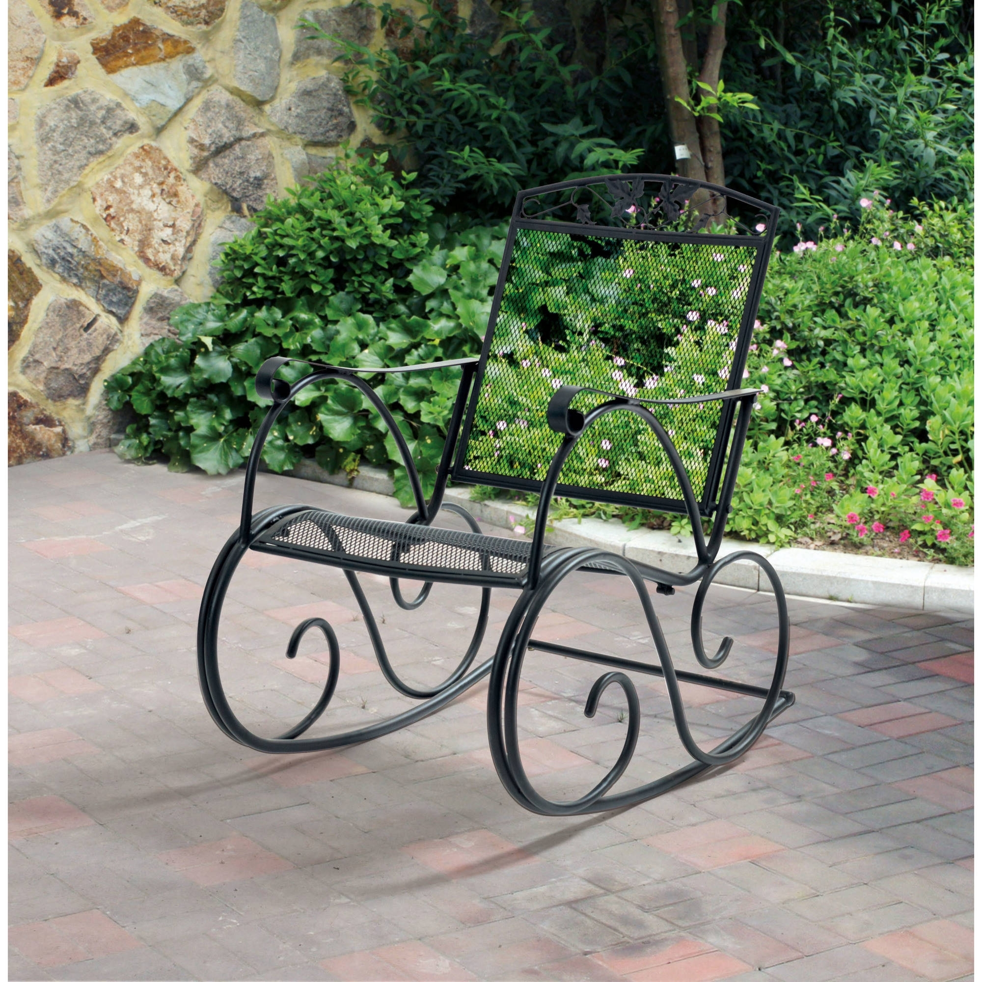 Wrought Iron Chairs In Expanded Metal Outdoor Furniture Ideas