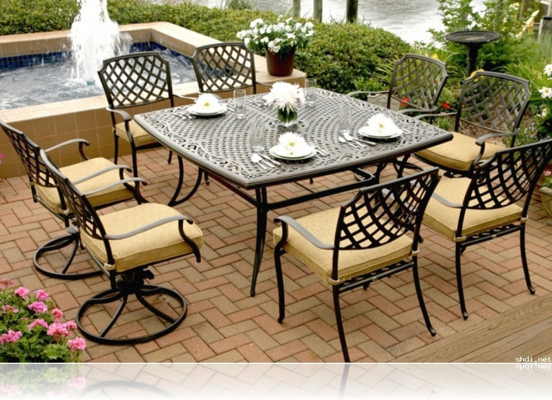 Image of: Classic Patio With Brown Glossy In Expanded Metal Outdoor Furniture Ideas