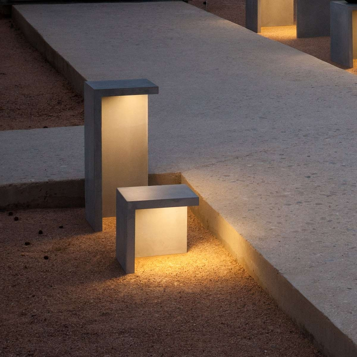 Image of: New Notable Vibia Louis Poulsen Outdoor Bollard Lighting Style