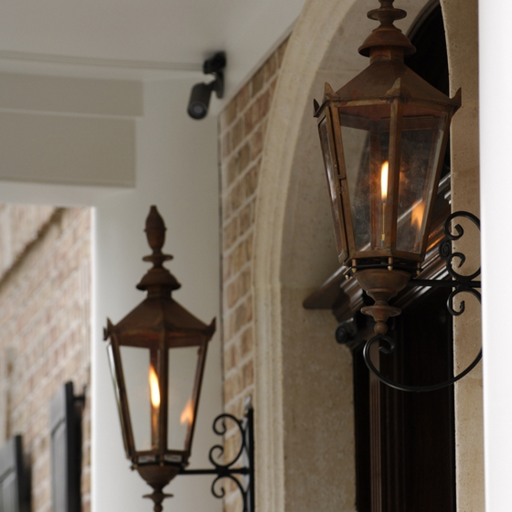 Image of: Outdoor Crafts Gas Porch Light