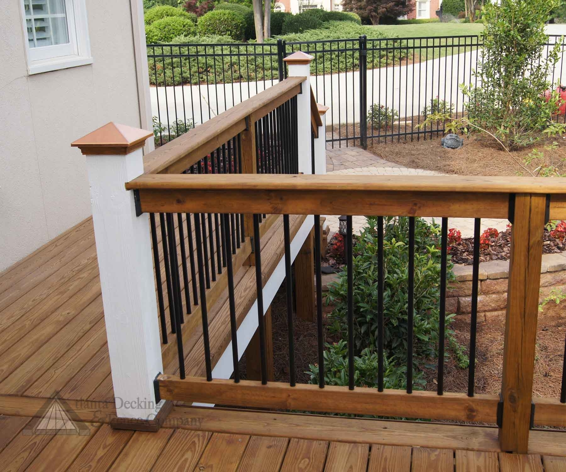 Image of: Patio Vinyl Deck Railing Porch With Aluminum Porch Railings Ideas