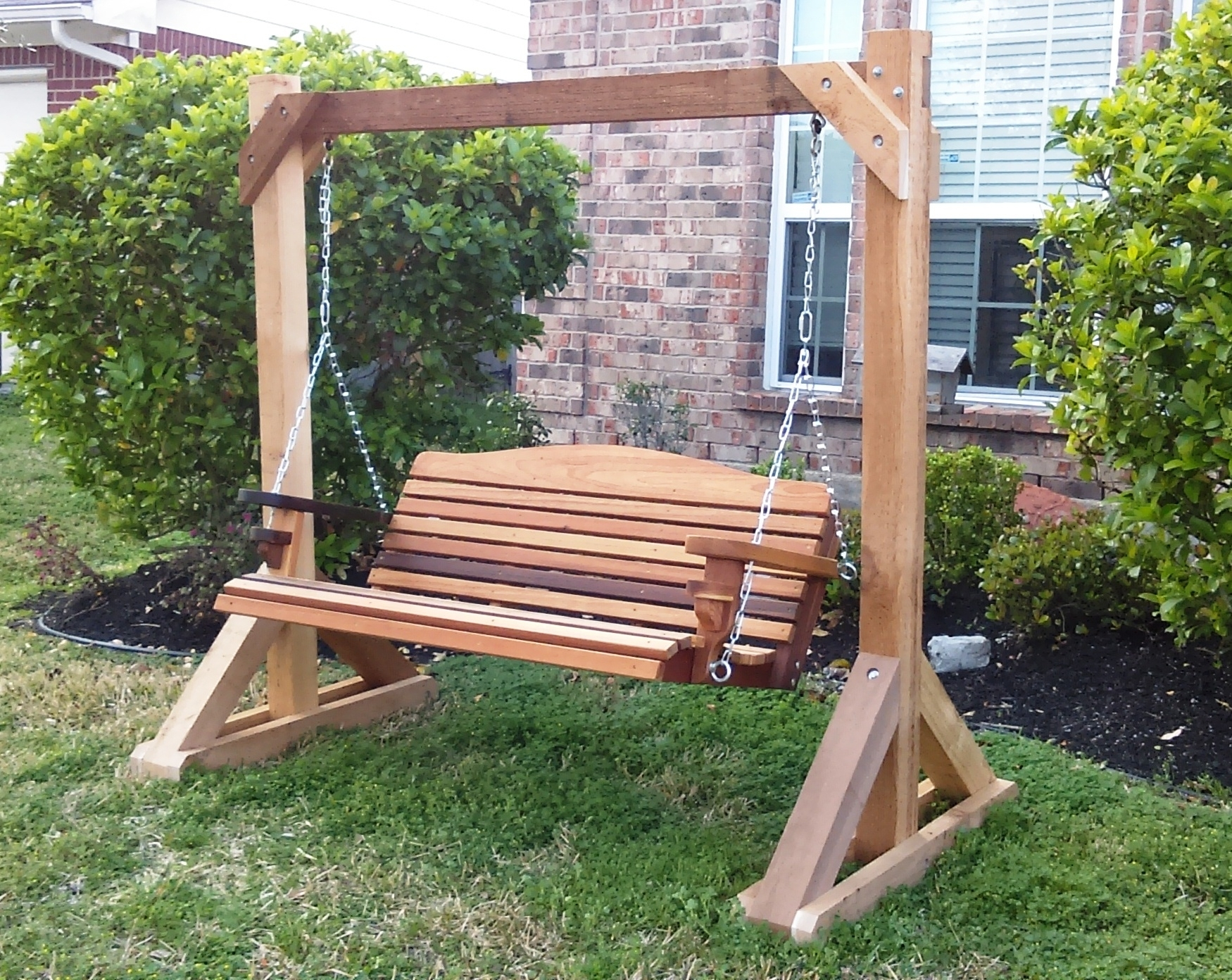 Image of: Consortium Outdoor With Free Standing Porch Swing